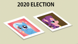 Size: 1280x720 | Tagged: a horse shoe-in, edit, edited screencap, election, safe, screencap, spoiled rich, spoiler:s09e20, trixie
