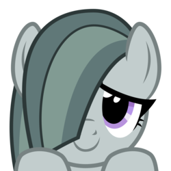 Size: 2400x2400 | Tagged: source needed, safe, artist:cheezedoodle96, marble pie, earth pony, pony, .svg available, boop bait, bust, close-up, cute, female, hair over one eye, hooves on the table, looking at you, marblebetes, mare, part of a set, peekaboo, peeking, portrait, simple background, smiling, solo, svg, this will end in boops, transparent background, vector, wide eyes