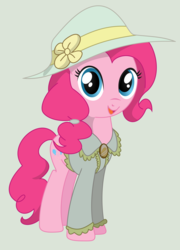 Size: 2285x3179   Tagged: safe, artist:madmax, artist:scarletlightning565, pinkie pie, earth pony, pony, fallout equestria, alternate hairstyle, clothes, cute, diapinkes, fanfic, fanfic art, female, hat, hooves, mare, ministry mares, ministry of morale, open mouth, smiling, solo