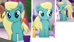 Size: 330x190 | Tagged: safe, screencap, chocolate apple, cornsilk, earth pony, pony, my little pony: the movie, spoiler:my little pony the movie, background pony, bow, collage, cropped, female, hair bow, mane bow, mare, picture for breezies, solo focus, unnamed pony
