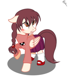 Size: 1044x1196 | Tagged: safe, artist:elementbases, artist:xxkawailloverchanxx, pony, base used, crossover, madotsuki, ms paint, paint.net, ponified, yume nikki