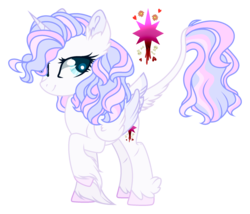 Size: 2300x1970 | Tagged: alicorn, artist:starling-sentry-yt, female, mare, oc, oc:pure star alium, pony, safe, simple background, solo, transparent background