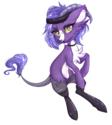 Size: 1210x1356 | Tagged: safe, artist:monogy, oc, earth pony, pony, clothes, female, horns, mare, simple background, socks, solo, transparent background