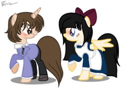 Size: 1121x797 | Tagged: safe, artist:ponybasesrus, artist:xxkawailloverchanxx, pony, aya drevis, base used, crossover, fujioka haruhi, mad father, ms paint, ouran high school host club, paint.net, ponified