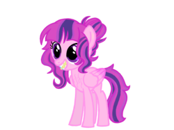 Size: 2732x2048 | Tagged: safe, artist:turnaboutart, oc, oc only, oc:kuiper aurora, pegasus, pony, braces, female, filly, magical lesbian spawn, offspring, parent:princess cadance, parent:twilight sparkle, parents:twidance, teenager