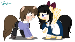 Size: 1529x871 | Tagged: safe, artist:angellight-bases, artist:xxkawailloverchanxx, pony, aya drevis, base used, crossover, fujioka haruhi, mad father, ms paint, ouran high school host club, paint.net, ponified