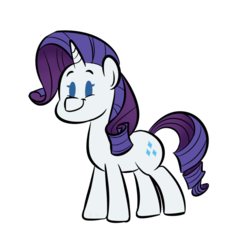 Size: 1280x1280 | Tagged: safe, artist:doodling-is-magic, rarity, pony, unicorn, beady eyes, cute, female, mare, raribetes, simple background, solo, white background