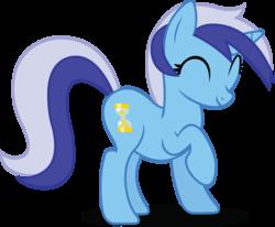 Size: 6957x5737 | Tagged: safe, artist:birthofthepheonix, minuette, pony, unicorn, absurd resolution, cute, eyes closed, female, mare, minubetes, raised hoof, simple background, solo, transparent background, vector