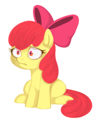 Size: 663x865 | Tagged: apple bloom, artist:mn27, earth pony, female, filly, pony, safe, simple background, sitting, solo, white background