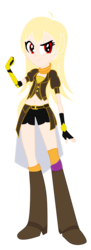 Size: 618x1695 | Tagged: safe, artist:lhenao, artist:selenaede, equestria girls, barely eqg related, base used, crossover, eqg promo pose set, equestria girls-ified, rwby, yang xiao long