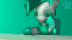 Size: 3840x2160 | Tagged: 3d, artist:atrinasfm, bat pony, bat pony oc, coffee, coffee mug, desk, gradient hooves, mug, oc, oc:archie cloud, safe, slit eyes, solo, source filmmaker, tired, watermark