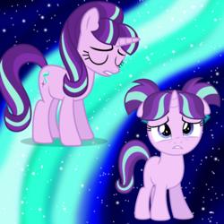 Size: 1000x1000   Tagged: safe, artist:luckreza8, artist:parclytaxel, starlight glimmer, pony, adult, female, filly, sad, vector