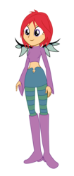 Size: 1415x3375 | Tagged: artist:invisibleink, artist:lhenao, barely eqg related, base used, belly button, crossover, equestria girls, equestria girls-ified, safe, simple background, solo, transparent background, will vandom, w.i.t.c.h.