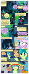 Size: 612x1553 | Tagged: armor, artist:newbiespud, cave, changeling, changeling queen, cheek squish, comic, comic:friendship is dragons, corrupted, dialogue, dragon, dragoness, earth pony, edit, edited screencap, evil grin, eyes closed, facepalm, female, gallus, glowing eyes, glowing horn, goo, griffon, grin, helmet, horn, implied ocellus, male, mare, my little pony: the movie, pegasus, pony, queen chrysalis, rainbow dash, raised hoof, rarity, rearing, safe, sandbar, scared, screencap, screencap comic, seapony (g4), shadow, silverstream, smiling, smirk, smolder, squishy cheeks, storm guard, storm king, unicorn, what lies beneath, yak, yona