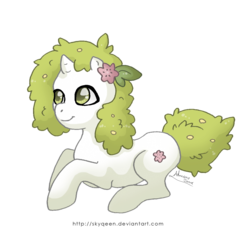 Size: 1220x1200 | Tagged: artist:almairis, crossover, land forme, pokémon, ponified, pony, safe, shaymin, simple background, transparent background