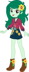 Size: 4155x10152   Tagged: safe, artist:marcorois, wallflower blush, equestria girls, equestria girls series, let it rain, spoiler:eqg series (season 2), absurd resolution, clothes, cute, female, flowerbetes, music festival outfit, open mouth, shorts, simple background, solo, transparent background, updated, vector
