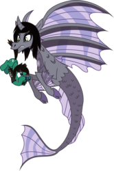 Size: 2324x3497 | Tagged: artist:lightningbolt, bring me the horizon, camera, carrying, clothes, cloven hooves, confused, curved horn, derpibooru exclusive, duo, earth pony, fangs, fins, fish tail, frown, hoof hold, horn, kellin quinn, looking down, looking up, male, mouth hold, ponified, pony, safe, shirt, simple background, siren, sleeping with sirens, slit eyes, stallion, svg, .svg available, tail, tail pull, tom sykes, transparent background, t-shirt, vector