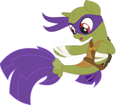 Size: 984x812 | Tagged: artist:amagydragon25, artist:lorenacarrizo18, base used, crossover, donatello, ponified, pony, safe, seaponified, seapony (g4), species swap, teenage mutant ninja turtles, tmnt 2012