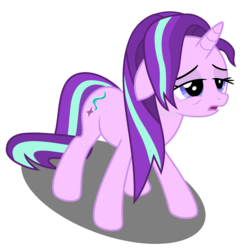 Size: 5040x5040   Tagged: safe, artist:greenmachine987, starlight glimmer, pony, unicorn, all bottled up, absurd resolution, female, flat mane, floppy ears, messy mane, simple background, solo, tired, transparent background, vector