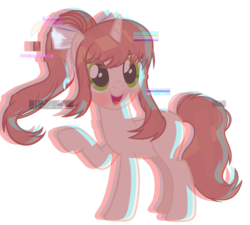 Size: 1024x920 | Tagged: safe, artist:dreamybae, artist:xmelodyskyx, pony, unicorn, base used, crossover, dating sim, doki doki literature club, error, female, game, glitch, just monika, looking at you, monika, ponified, smiling, vector, video game, visual novel, waifu