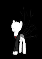 Size: 2322x3281 | Tagged: safe, artist:mishti14, breezie, pony, breeziefied, crossover, ponified, simple background, slenderman, slendermane, slenderpony, species swap, transparent background