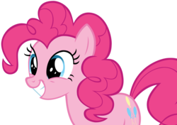 Size: 8509x5984 | Tagged: safe, artist:andoanimalia, pinkie pie, earth pony, pony, not asking for trouble, absurd resolution, cutie mark, excited, female, mare, simple background, smiling, solo, transparent background, vector