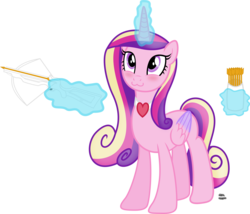 Size: 2082x1784 | Tagged: :3, alicorn, arrow, artist:anime-equestria, bag, blushing, crossbow, cute, cutedance, female, heart, love, magic, princess cadance, safe, simple background, smiling, solo, telekinesis, transparent background, vector