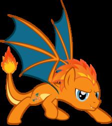 Size: 5849x6534 | Tagged: safe, artist:benybing, charizard, dracony, hybrid, pony, crossover, pokémon, ponified, simple background, solo, transparent background