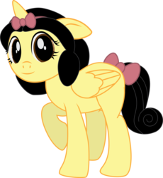 Size: 2291x2494 | Tagged: safe, artist:benybing, alicorn, pony, crossover, ponified, simple background, snow white, snow white and the seven dwarfs, solo, transparent background
