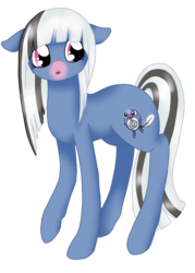 Size: 670x934   Tagged: safe, artist:mondlichtkatze, poliwag, pony, crossover, pokémon, ponified, simple background, solo, transparent background