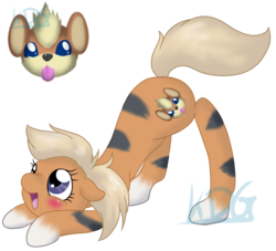 Size: 995x903 | Tagged: safe, artist:mondlichtkatze, growlithe, pony, crossover, cute, pokémon, ponified, simple background, solo, transparent background