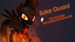 Size: 3840x2160 | Tagged: 3d, artist:twilighlot, fire, glow, model, nightmare star, safe, solar guard, source filmmaker