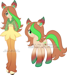 Size: 800x894 | Tagged: adoptable, artist:sakuyamon, crossover, equestria girls, equestria girls-ified, leafeon, oc, pokémon, ponified, pony, safe, solo