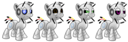 Size: 1024x337   Tagged: safe, artist:aleximusprime, pony, robot, robot pony, crossover, fact core, ponified, portal (valve), portal 2, rick the adventure sphere, space core, wheatley