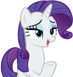 Size: 7178x7534 | Tagged: safe, artist:andoanimalia, rarity, pony, unicorn, dragon dropped, spoiler:s09e19, absurd resolution, female, mare, open mouth, raised hoof, simple background, solo, transparent background, underhoof, vector
