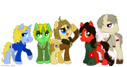 Size: 1500x800 | Tagged: artist:xxcystalthewolfxx, china, crossover, england, france, hetalia, ponified, pony, russia, safe, simple background, transparent background, united states