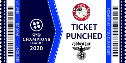 Size: 1000x500 | Tagged: safe, artist:anonymous, pony, /mlpol/, /pol/ league cup, 2020, 4chan, 4chan champions league, blackletter, football, misc, sports, ticket