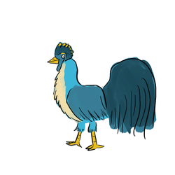 Size: 1000x1000 | Tagged: safe, artist:horsesplease, gallus, bird, chicken, birdified, derp, gallus the rooster, male, namesake, rooster, simple background, solo, species swap, white background