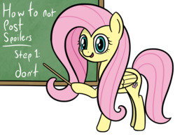 Size: 3643x2820 | Tagged: artist:czu, chalkboard, female, fluttershy, hoof hold, mare, no spoilers, pegasus, pony, reaction image, safe, simple background, solo, white background