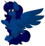 Size: 879x909 | Tagged: safe, artist:midnightamber, oc, oc only, oc:midnight, alicorn, pony, alicorn oc, critique requested, gradient eyes, long hair, long mane, long tail, raised hoof, shading, shading practice, simple background, sitting, smiling, solo, transparent background, wing open, wing out