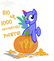 Size: 3000x3400 | Tagged: safe, artist:bigrodeo, oc, alicorn, earth pony, pegasus, pony, unicorn, advertisement, clothes, commission, commission info, costume, halloween, holiday, jack-o-lantern, pumpkin, solo, your character here