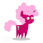 Size: 500x500 | Tagged: safe, artist:bigrodeo, oc, oc:polygon, pony, unicorn, afro, curly hair, fluffy, pink, pointy ponies, solo