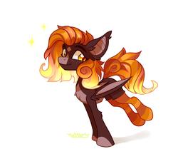 Size: 1045x901 | Tagged: safe, artist:fantom, oc, oc only, oc:fire glow, bat pony, pony, bat pony oc, clothes, female, socks, solo, striped socks