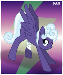 Size: 1507x1786 | Tagged: safe, artist:banquo0, rolling thunder, pegasus, pony, the washouts (episode), bandage, eye scar, one eye closed, scar, solo, spread wings, stretch, wings, wink
