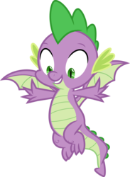Size: 6400x8760 | Tagged: absurd res, artist:parclytaxel, baby, baby dragon, claws, cute, dragon, feet, flying, grin, male, male feet, molt down, safe, simple background, slit eyes, smiling, solo, spikabetes, spike, spread toes, spread wings, .svg available, toes, transparent background, vector, winged spike, wings