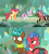 Size: 1600x1794 | Tagged: safe, edit, edited screencap, screencap, apple bloom, biscuit, scootaloo, spur, sweetie belle, growing up is hard to do, box, cattails, chest, comic, cutie mark, forest, frazzled, neckerchief, older, older apple bloom, older cmc, older scootaloo, older sweetie belle, road, screencap comic, the cmc's cutie marks
