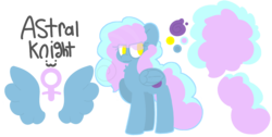 Size: 1195x600   Tagged: safe, artist:moonydusk, oc, oc only, oc:astral knight, pegasus, pony, female, mare, reference sheet