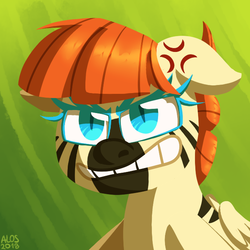 Size: 650x650 | Tagged: safe, artist:alittleofsomething, oc, oc:pawlin, pony, angry, cross-popping veins, female, mare, solo