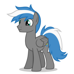Size: 894x894 | Tagged: safe, artist:oblivionfall, oc, oc only, oc:cloud zapper, pegasus, pony, male, smiling, solo, stallion