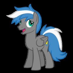 Size: 894x894 | Tagged: safe, artist:oblivionfall, oc, oc only, oc:cloud zapper, pegasus, pony, male, solo, stallion